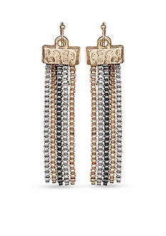 Jules B Tri-Tone Snake Charmer Tassel Drop Earrings