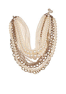 Jules B Gold-Tone Multi Layered Chain Necklace