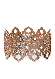 Jules B Gold-Tone Cut Out Floral Stretch Bracelet