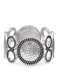 Jules B Silver-Tone Going In Circles Stretch Bracelet