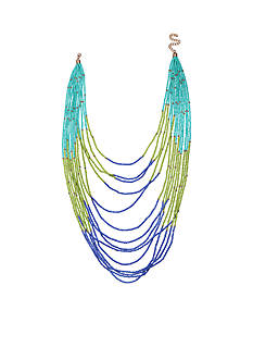 Jules B Gold-Tone Coastal Living Long Layered Bead Necklace