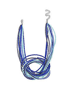 Jules B Silver-Tone Code Blue Knot Multi-Strand Necklace