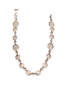 Jules B Gold-Tone Cut Out Discs Long Necklace