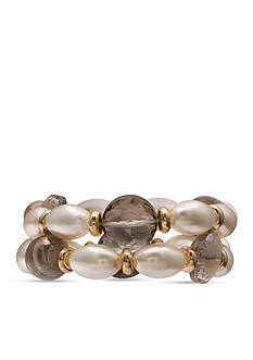 Jules B Gold-Tone Sunday In The South 2 Row Pearl Stretch Bracelets
