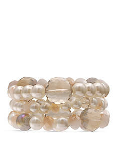 Jules B Sunday In The South Pearl Bead Stretch Bracelet Set