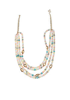 Jules B Gold-Tone Powder Room Multi-Strand Long Necklace