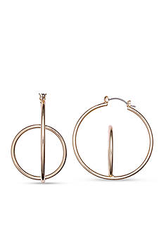 Jules B Gold-Tone Going In Circles Orbit Hoop Earrings