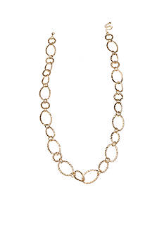 Jules B Gold-Tone Going In Circles Oval Links Long Necklace