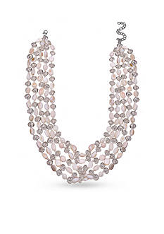 Jules B Silver-Tone White Shell Multi-Strand Necklace