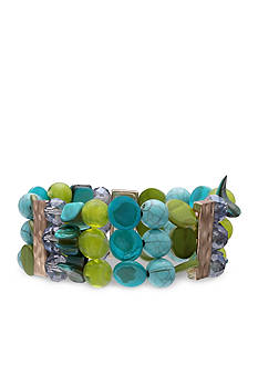 Jules B Gold-Tone Coastal Living Stretch Bracelet