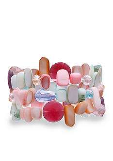 Jules B Flip Flops & Crop Tops Pastel Shell Stretch Bracelet