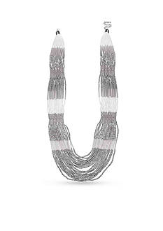 Jules B Silver-Tone Snow White Layered Multi-Strand Necklace