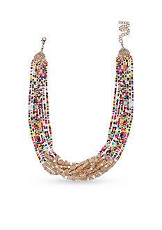 Jules B Gold-Tone True Colors Torsade Multi-Strand Necklace