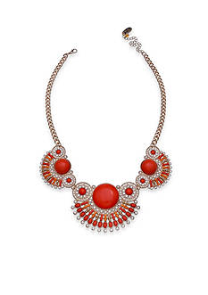 Jules B Gold-Tone Orange Crush Statement Necklace