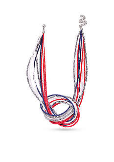 Jules B Silver-Tone Fireworks Knot Pendant Necklace