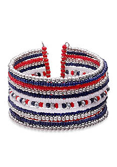 Jules B Silver- Tone Fireworks Cuff Bracelet