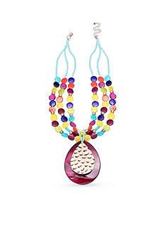 Jules B Gold-Tone True Colors Pendant Necklace