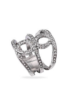 Jules B Rings Silver Tone Crystal Infinity Pave Ring Size 7