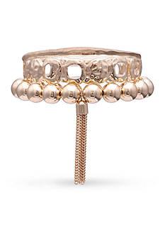 Jules B Gold-Tone Orange Crush 3-Piece Bracelet Set
