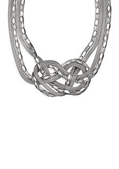 Jules B Silver-Tone Knotted Chain Necklace