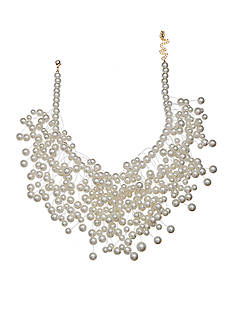 Jules B Gold-Tone Pearls Night Out Statement Necklace