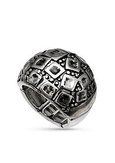 Jules B SIlver-Tone Dome Stretch Ring