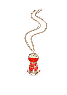 Jules B Gold-Tone Sun Kissed Tassel Pendant Necklace
