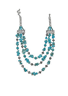 Jules B Iridescence Turquoise Chip Necklace
