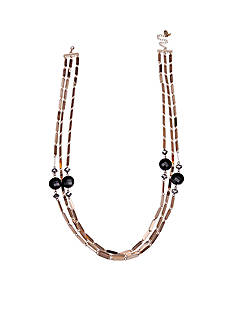Jules B Gold-Tone Little Black Dress Multi-strand Necklace