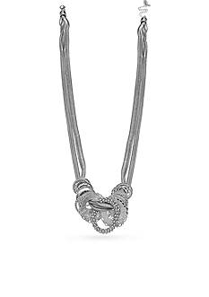 Jules B Silver-Tone Snake Charmer Multistrand Necklace