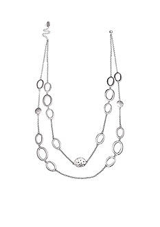 Jules B Silver-Tone Going In Circles Long Necklace