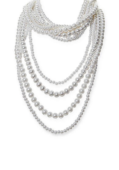 Jules B Pearls Night Out Multi Strand Pearl Necklace