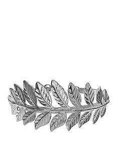 Jules B Silver-Tone Hotline Bling Leaf Cuff Bracelet
