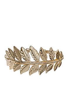 Jules B Gold-Tone Hotline Bling Gold Leaf Cuff Bracelet