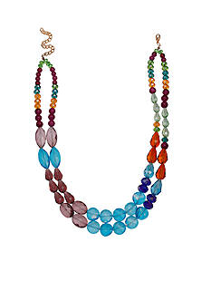 Jules B Gold-Tone In Living Color Multistrand Necklace
