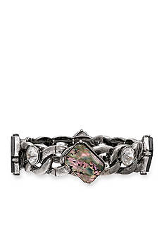 Jules B Silver-Tone Iridescence Stretch Bracelet