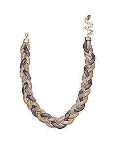Jules B Two-Tone Snake Charmer Braided Collar Necklace