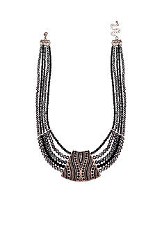 Jules B Gold-Tone Little Black Dress Bead Multi-strand Necklace