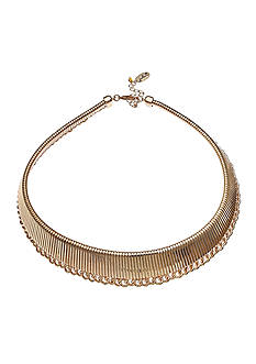 Jules B Gold Tone Snake Charmer Gold Collar Necklace