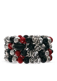 Jules B Silver-Tone Midnight Romance Coil Bracelet