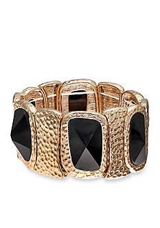 Jules B Gold-Tone Little Black Dress Stretch Bracelet