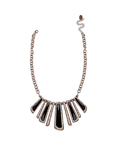 Jules B Gold-Tone Little Black Dress Statement Necklace