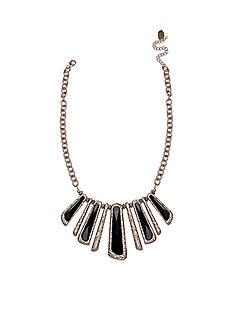 Jules B Gold-Tone Little Black Dress Statement Necklace