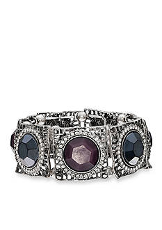 Jules B Purple Rain Crystal Stations Stretch Bracelet