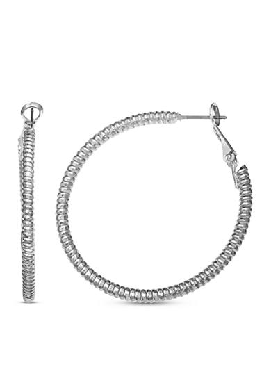 Jules B Silver-Tone Snake Charmer Hoop Earrings