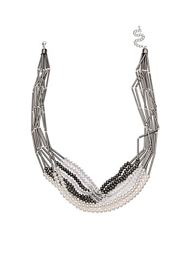 Jules B Hematite-Tone Girls & their Pearls Multi Strand Necklace