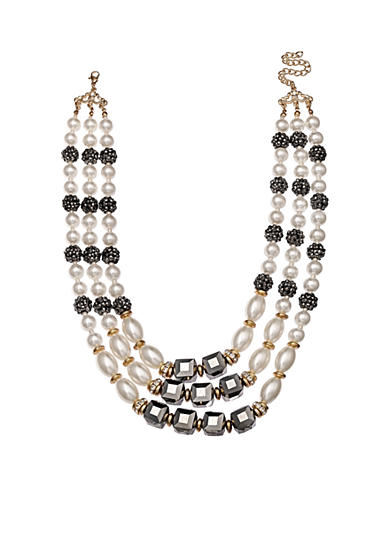 Jules B Gold-Tone Girls & Their Pearls Multi-Strand Necklace