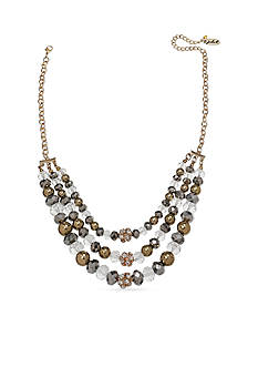 Jules B Gold-Tone Gilt Trip Multi-Strand Necklace