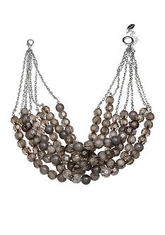 Jules B Bauble Bazaar Gray Bead Multi-Strand Necklace
