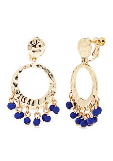 Kim Rogers Brea Gypsy Hoop Clip Earrings